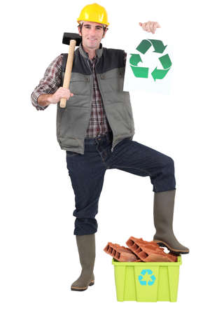 Environmentally friendly tradesman photo