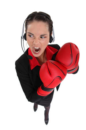 businesswoman ready for fight photo