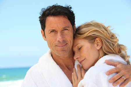Couple by the sea Stock Photo - 15718568