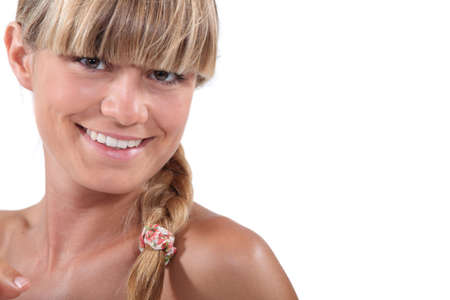 bangs: Young blonde with bangs Stock Photo