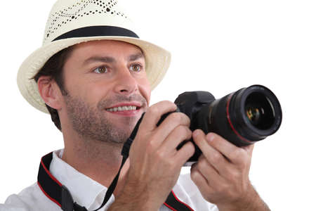 35 40 years: close-up of a tourist