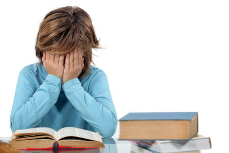 revision: Child revising Stock Photo