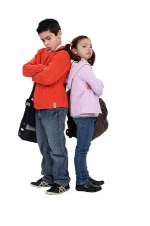 discord: two kids sulking