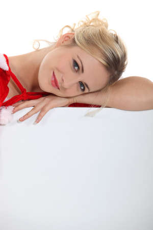 evoke: Feminine beauty on Christmas Stock Photo