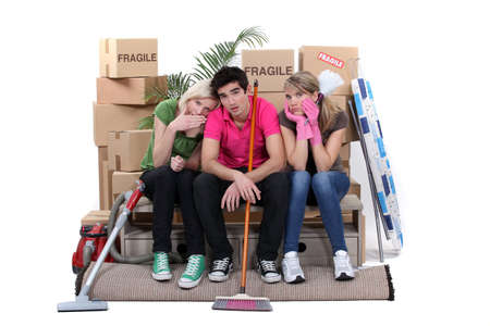 Friends moving house Stock Photo - 15718277
