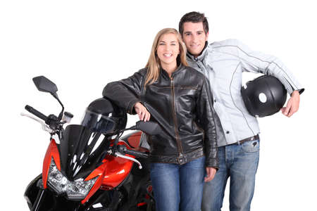 Biker couple Stock Photo - 15718457