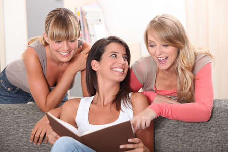 roommates: girlfriends having fun at home