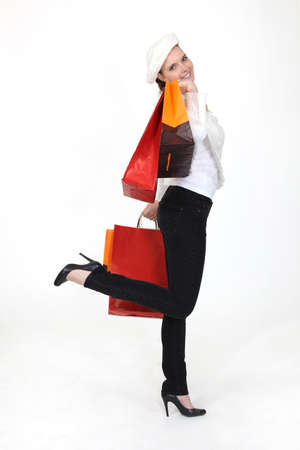 woman with bags photo