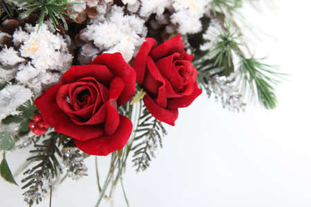 winter wedding: A flower arrangement