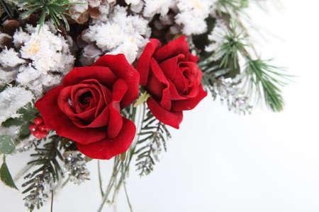 red roses: Un centro de flores Foto de archivo
