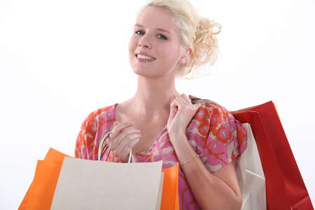Woman on a shopping spree Stock Photo - 15801931