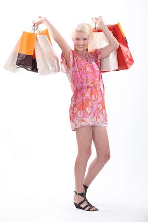 ravishing: Woman with shopping bags