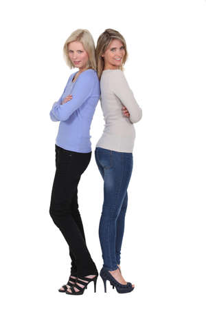 Women wearing skinny jeans photo