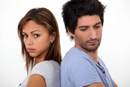 broken back: Sad couple