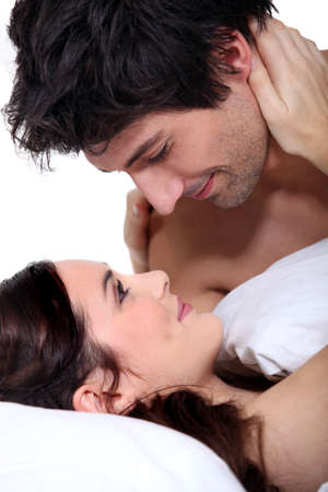 erotic couple: Husband and wife staring into each other