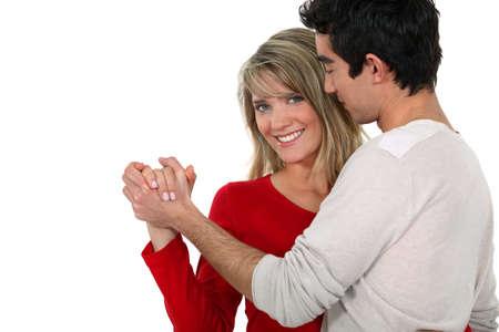 bailando salsa: Pareja bailando