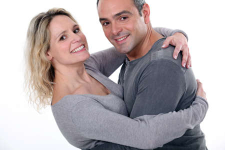 male age 40's: Nice looking middle aged couple  Stock Photo