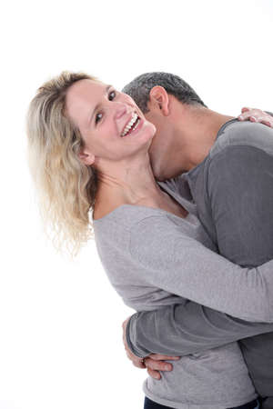couple laughing photo