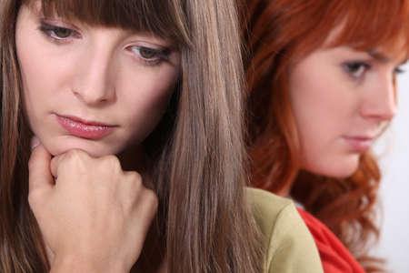 resent: Friends having a disagreement Stock Photo