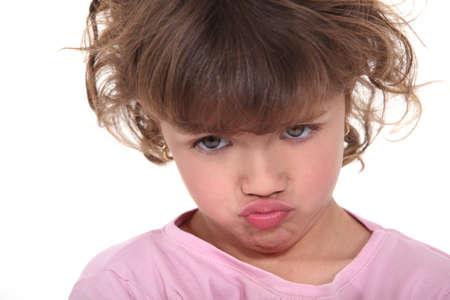 cheerless: A moody little girl