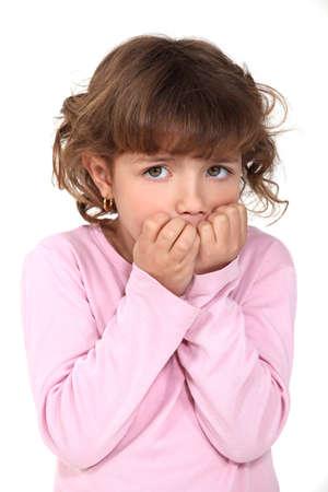 Little girl scared Stock Photo - 15807168