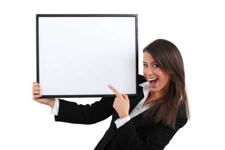 appealing attractive: Enthusiastic businesswoman Stock Photo