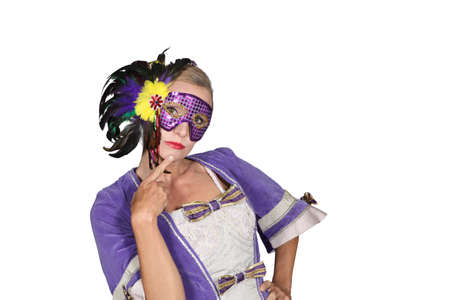 Woman in masquerade outfit Stock Photo - 15807656