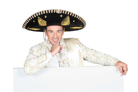 portrait of a man with sombrero Stock Photo - 15807552