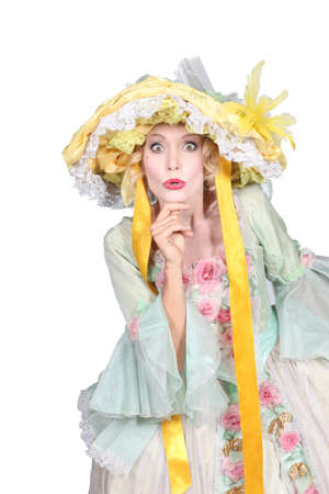 bonnet up: Woman wearing Easter bonnet