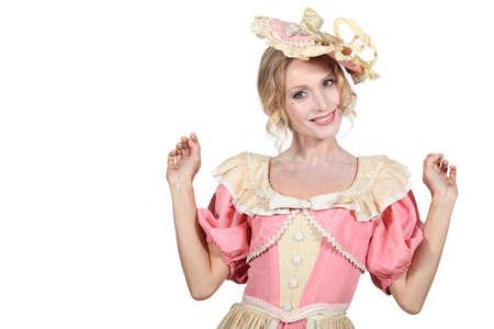 period costume: Woman wearing period costume