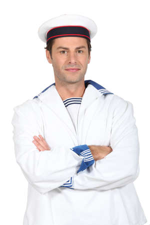 Man in a sailor Stock Photo - 15807439
