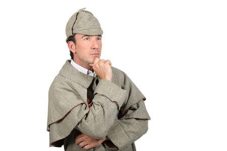 man in Sherlock Holmes costume Stock Photo - 15807189
