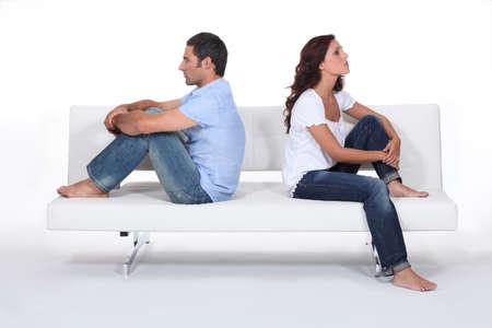 Angry couple photo