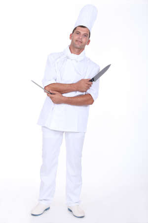 pointed arm: Cook with two knives