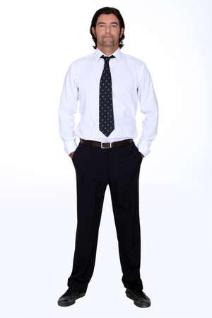hair tie: Smart businessman Stock Photo
