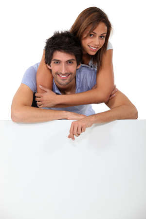 dark haired: portrait of a couple Stock Photo
