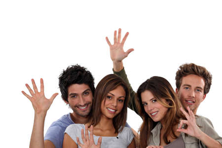 Group of young people gesticulating Stock Photo - 15807702