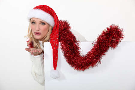 Woman celebrating Christmas Stock Photo - 15807182