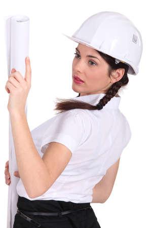 young engineer: Female entrepreneur Stock Photo