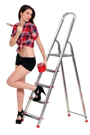 Sexy painter