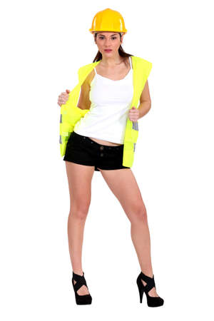 Sexy traffic guard Stock Photo - 15807103