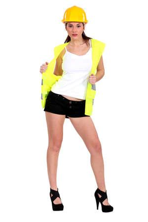 Sexy traffic guard Stock Photo - 15807103