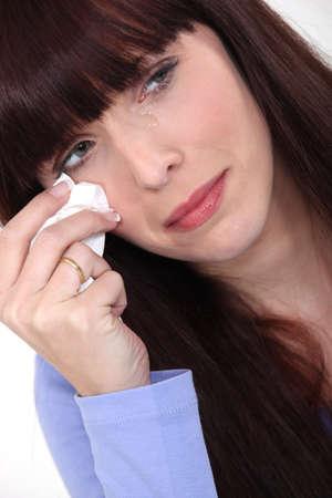 decepción: Mujer llorando Foto de archivo
