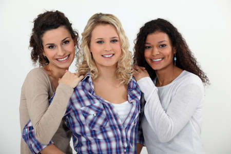 family and friends: Three female friends