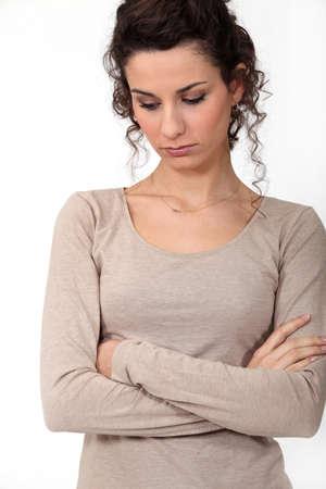 woman sad: Mujer triste