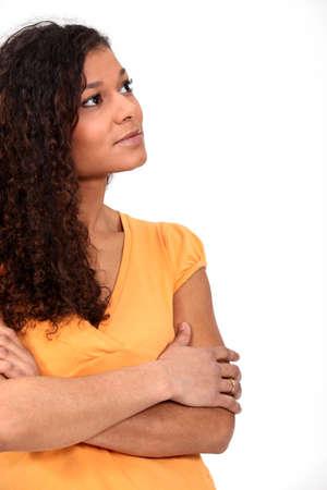 evocative: Pensive woman