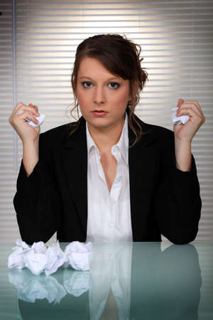 fed up: Angry woman Stock Photo