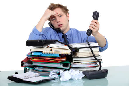 An overwhelmed businessman  Stock Photo - 15832899