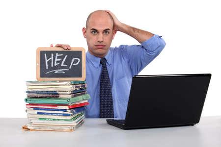 alopecia: Men looking for help Stock Photo