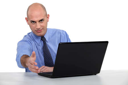Recruiter in professional interview Stock Photo - 15832826